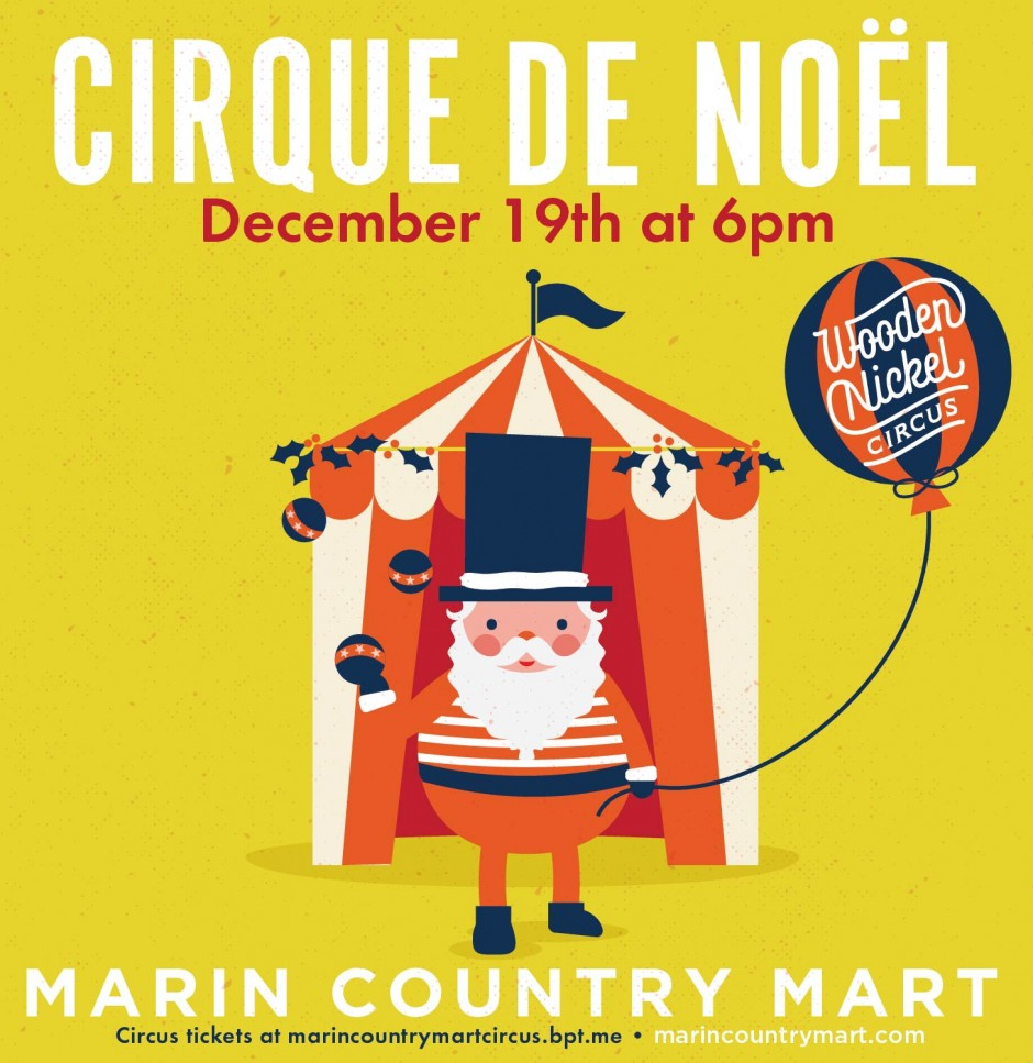 Wooden Nickel Circus at Marin County Mart - December 19, 2015 - Marin, CA